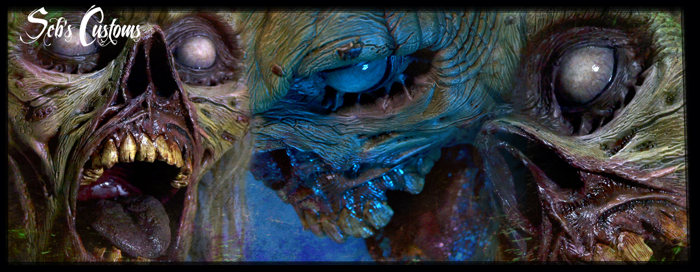 Zombie life size head