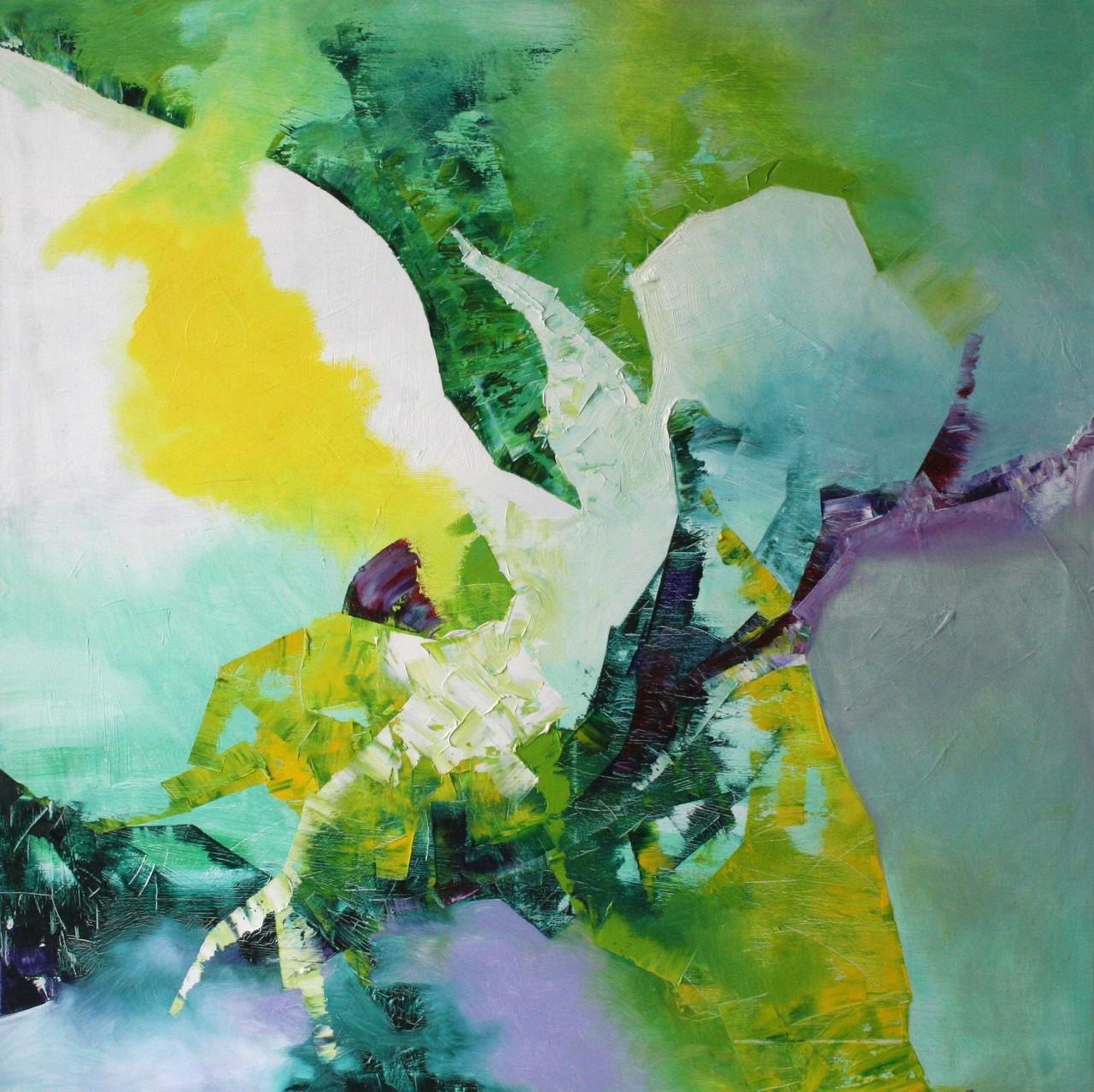 Im Riff, Öl auf Leinwand, 80 x 80 cm