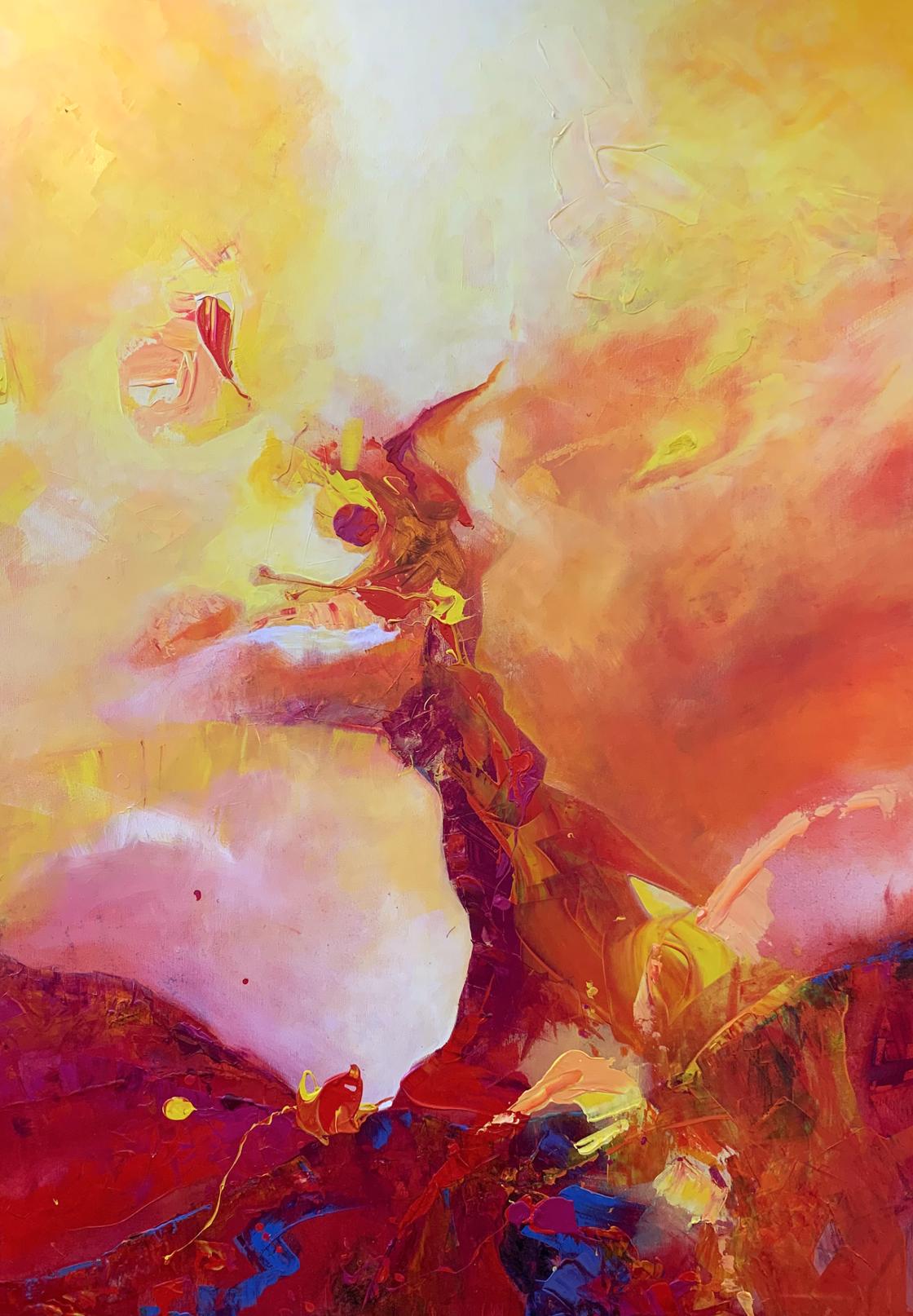Seele, Acryl auf leinwand, 140 x 100 cm