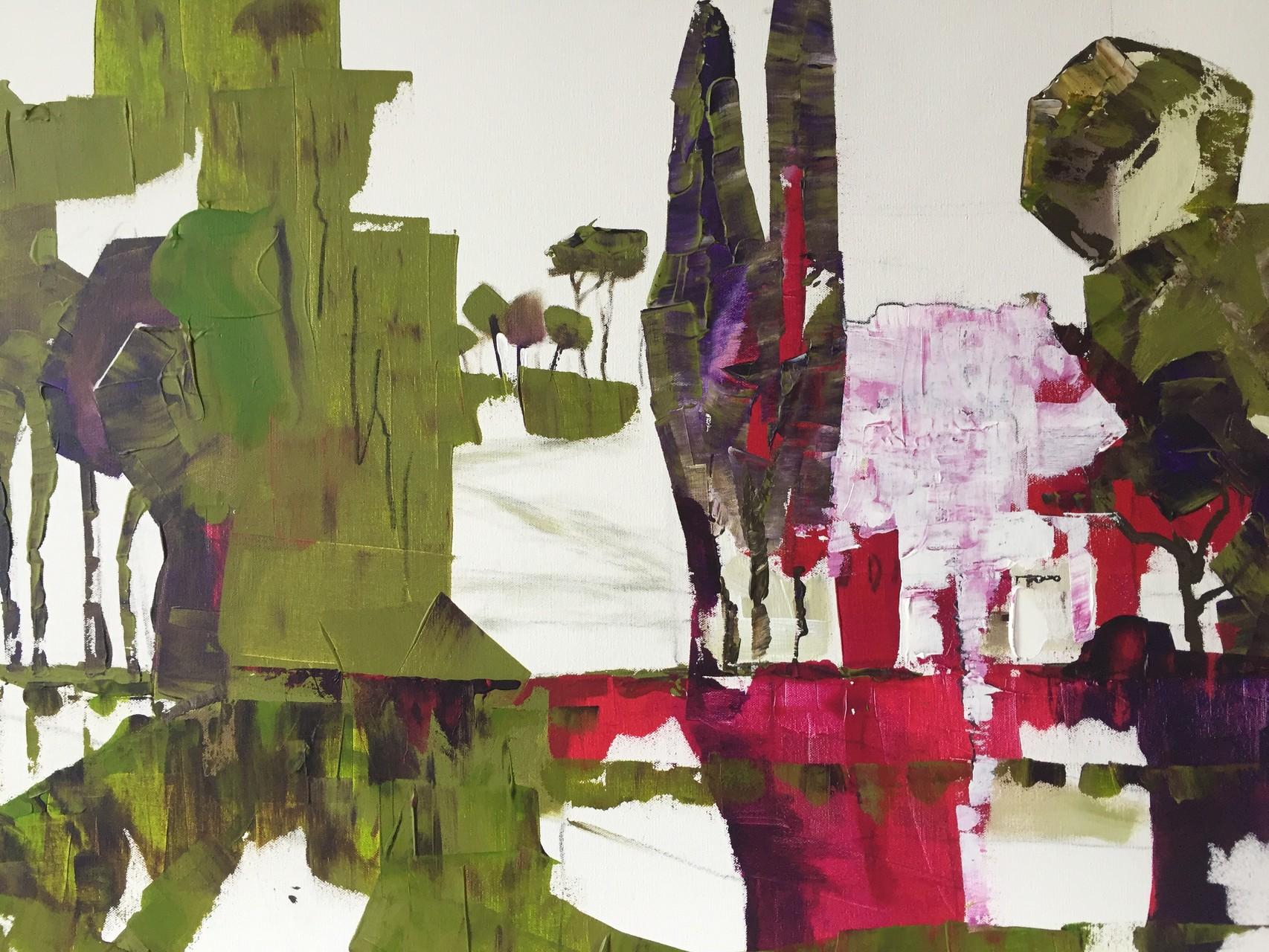 Am Comosee, Acryl auf Leinwand, 80 x 60 cm