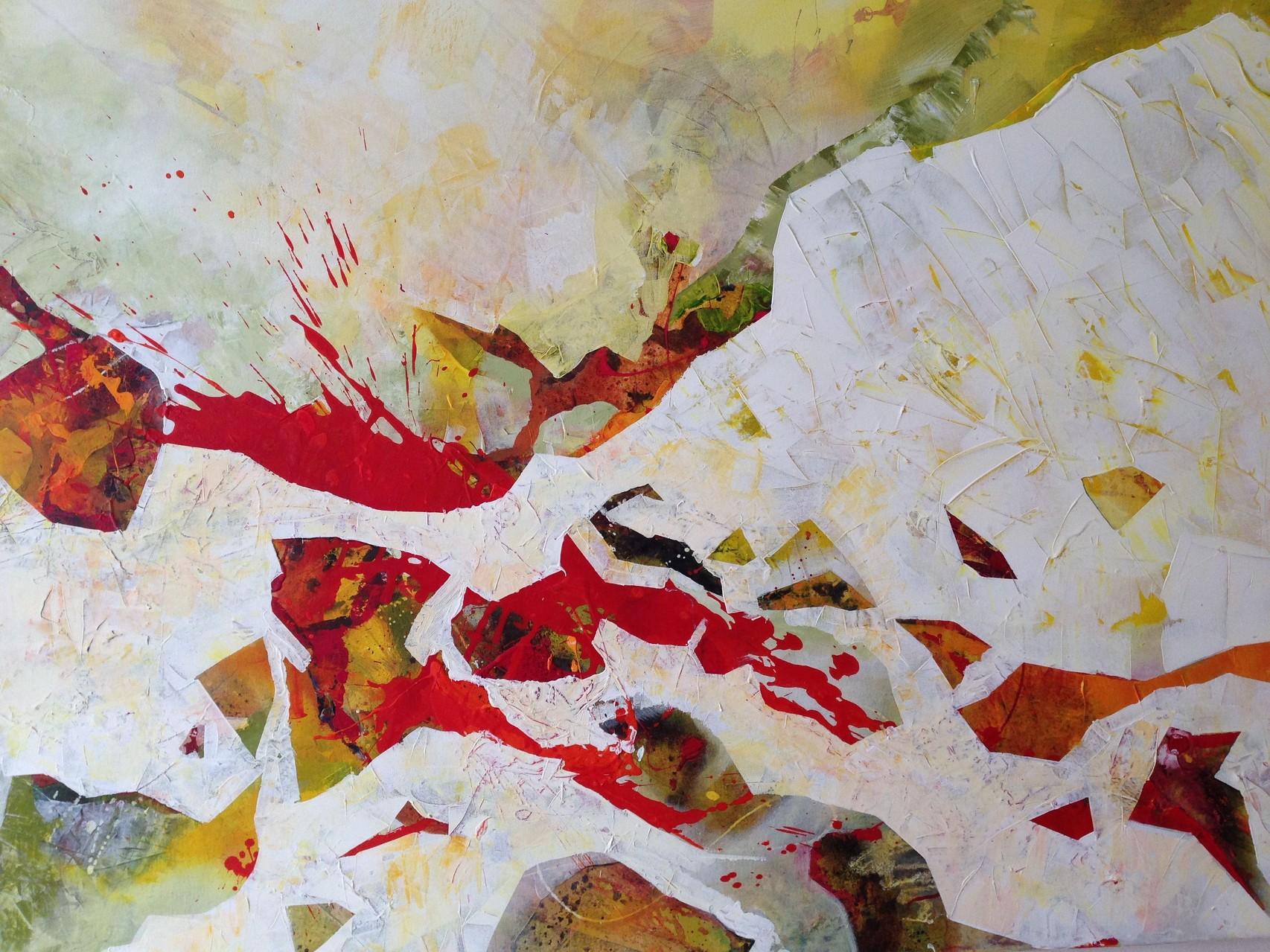 Herzblut, Acryl auf Leinwand, 120 x 100 cm