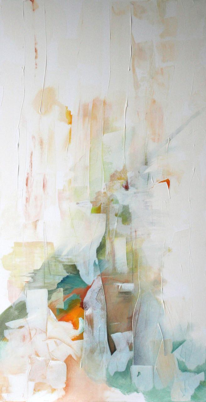 Wassernymphe, Acryl auf Leinwand, 100 x 40 cm