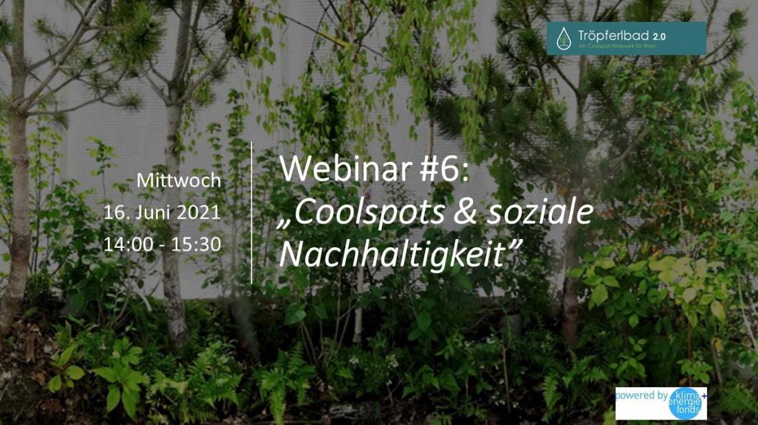 Webinar #6 - Coolspots und soziale Nachhaltigkeit