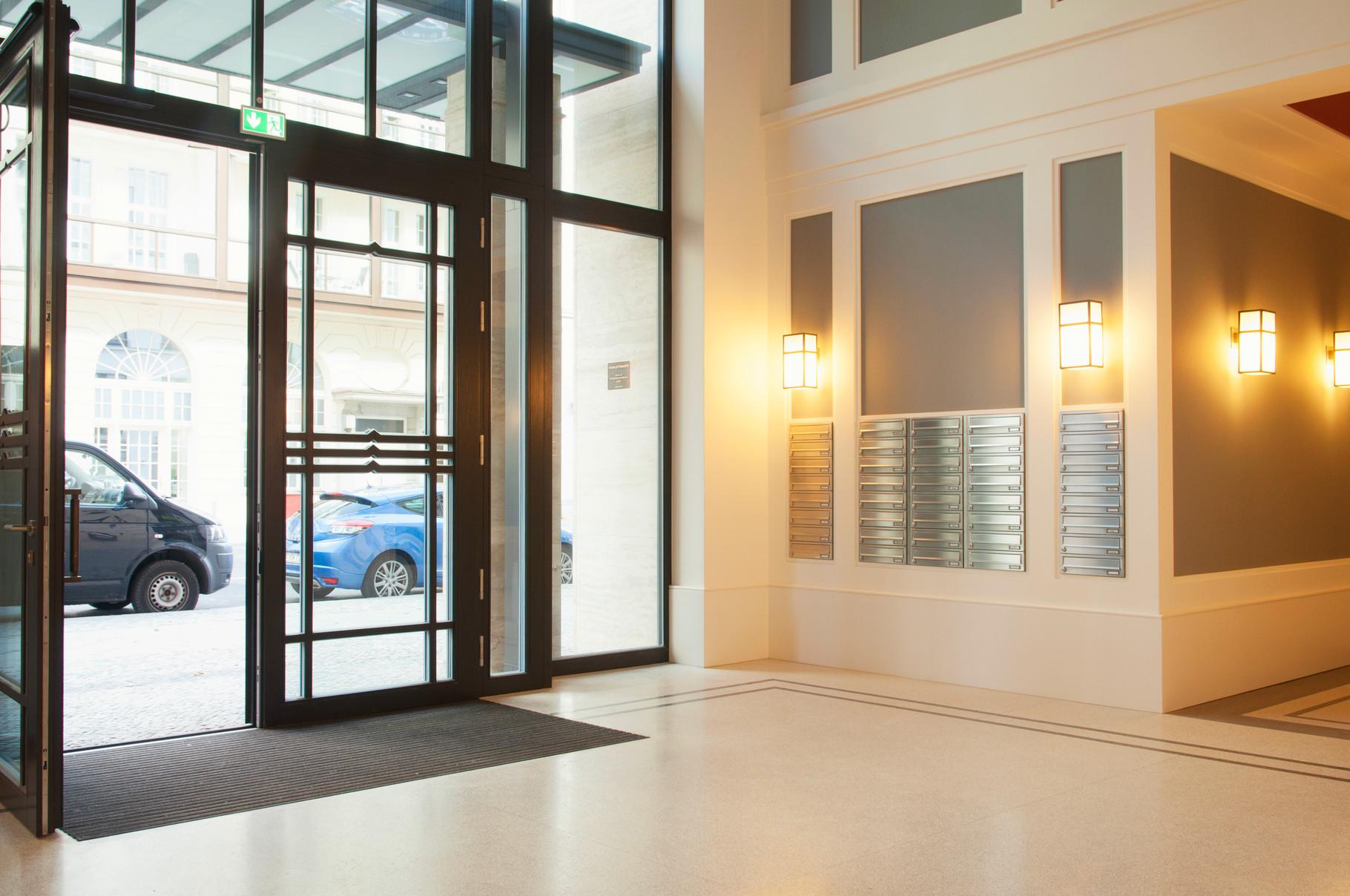 Unterputz Briefkastenanlagen Eingangsbereich Foyer Lobby