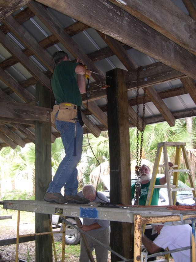 Beam for pole barn, Ranger Rick Storsberg