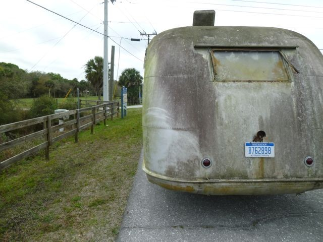 Temporary tag to get Tucker's Camp trailer as far as Indiana for restoration.