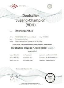 Deutscher Jugend Champion VDH12