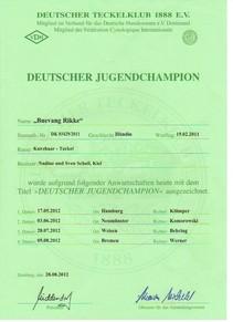 Deutscher Jugend Champion DTK12