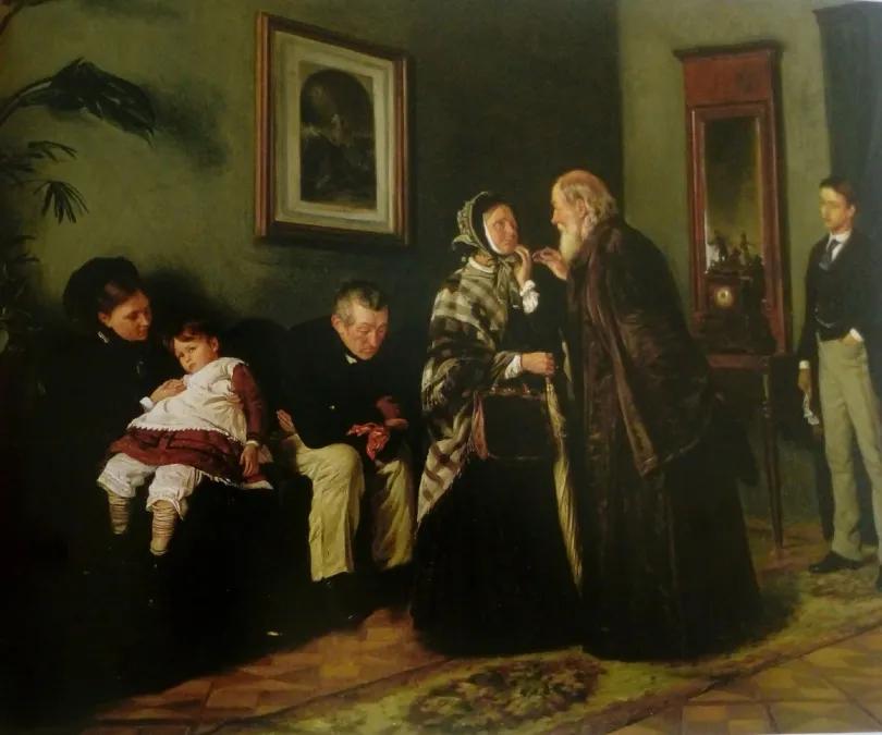 Sala de espera del médico, de Vladímir Makovski