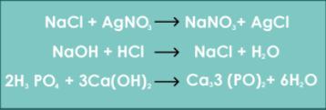 En este tipo de reacciones dos compuestos químicos intercambian iones para producir dos nuevos compuestos.