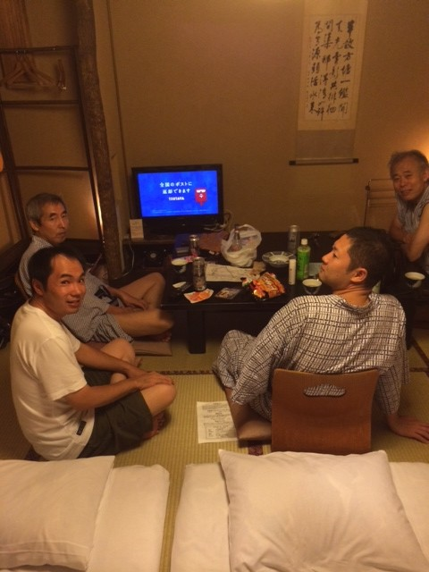 2014.9親睦旅行での宿にて
