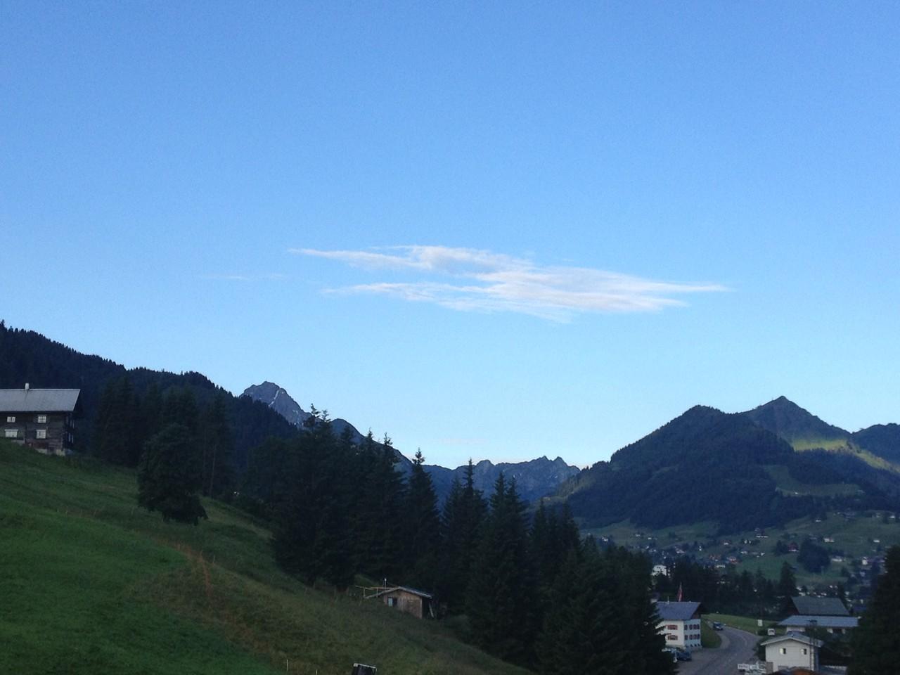 Blick nach Hirschegg