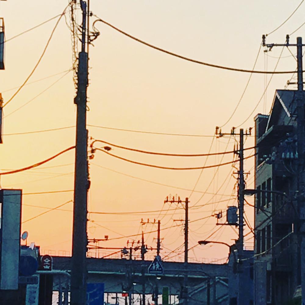 マツエ時計店の前から見えた夕焼け