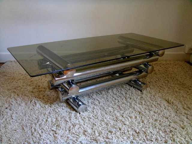 Table Basse Vintage Chrome Design Italien Des Ann Es 70 Muros Design Et Vintage En Bourgogne