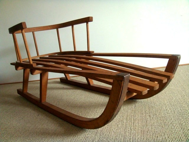 Luge fauteuil ancienne vintage