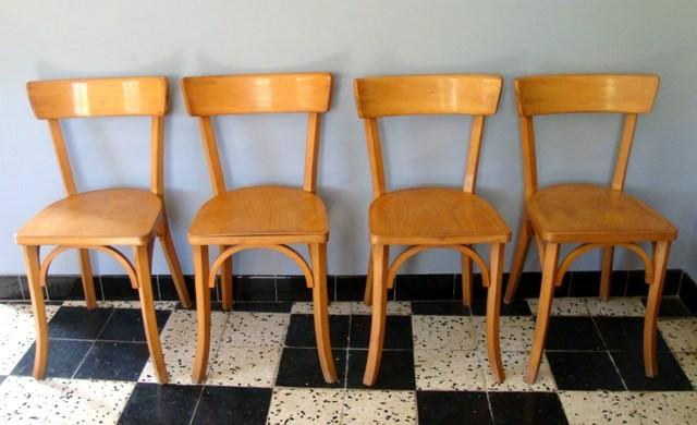 Série de chaises bistrot style Baumann