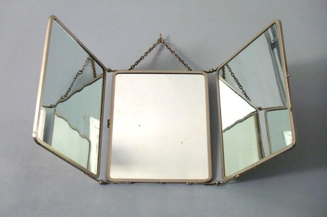 Miroir métallique tryptique