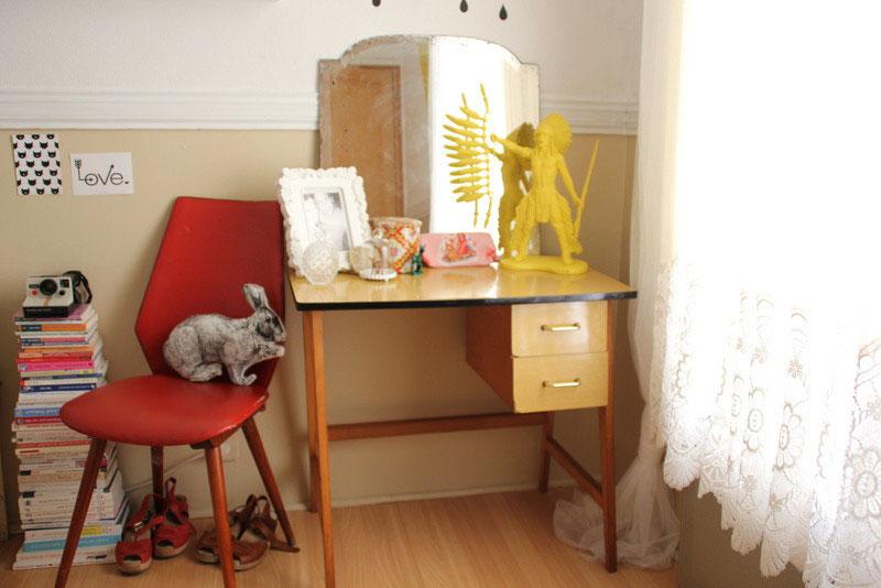 Notre bureau vintage acheté et mis en scène par la célèbre blogueuse www.choufleurlajoliepaillette.com