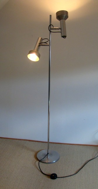 lampadaire vintage chrome