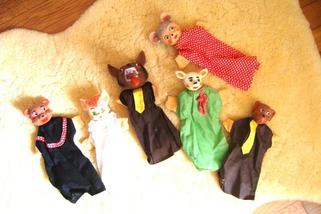 Marionnettes animaux des années 60