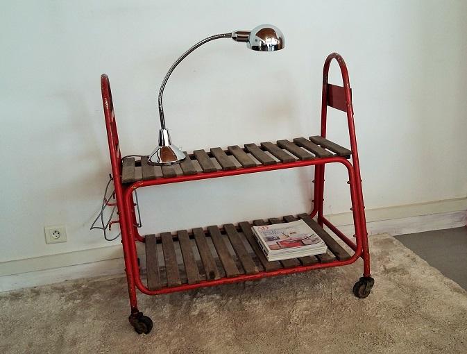 Chariot industriel vintage