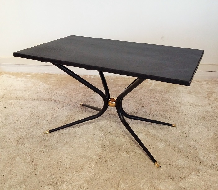 table basse ann es 50 boule laiton muros design et vintage en bourgogne. Black Bedroom Furniture Sets. Home Design Ideas