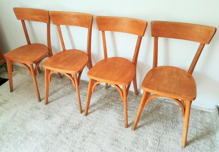 Suite de 4 chaises bistro Luterma vintage