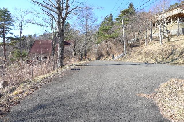 宅地前道路から(西側)の写真