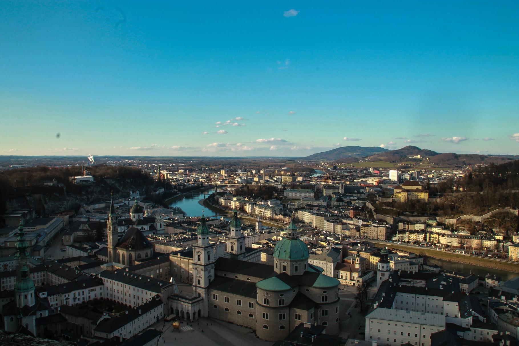 Blick auf Salzburg von der Burg