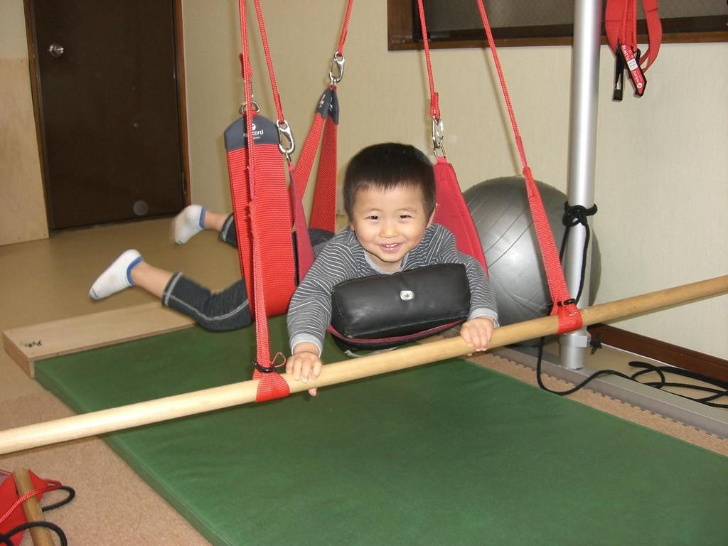 遊びながら身体を鍛えることもできまーす♪