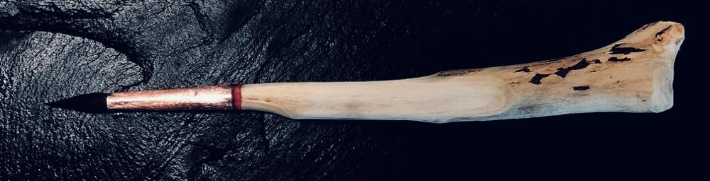Keramikpinsel individuell aus Bodenseestrandholz