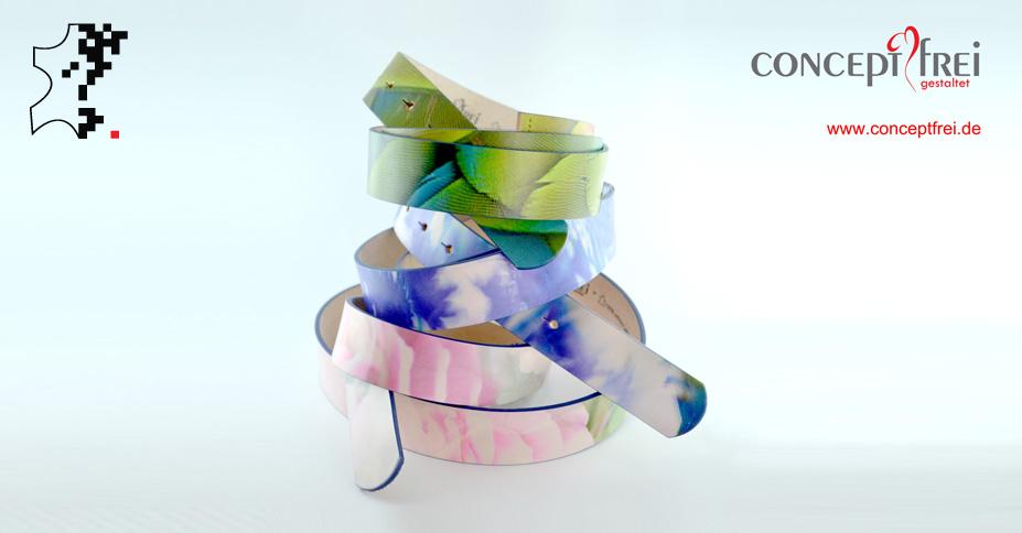 Gürtel als modisches Accessoire fein gestaltet - Druck Leder
