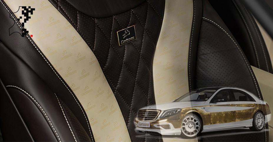 Gold und Luxus pur - Lederdruck