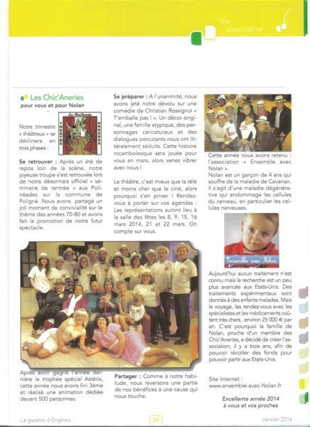 Gazette d'Orgères Janvier 2014