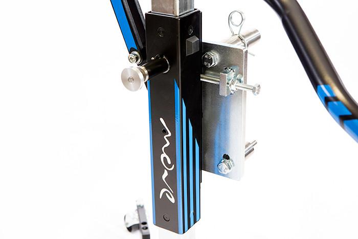 Detail Zentralständer blau