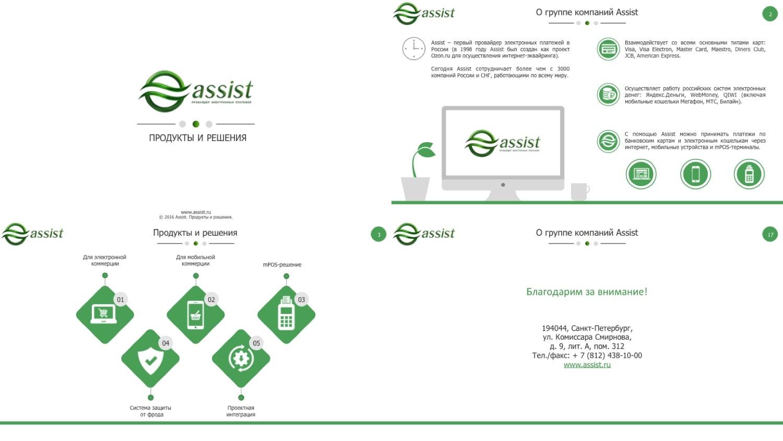 """Презентация для провайдера электронных платежей """"Assist"""""""