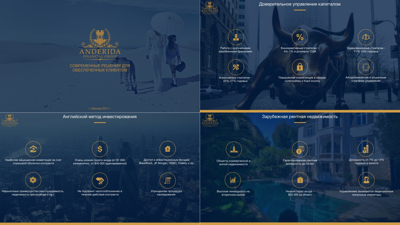 Презентация для компании Anderida Financial Group