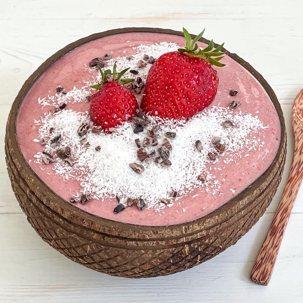 Erdbeer-Smoothiebowl
