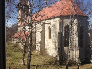 These photos show the former fortified church of Sura Mica.