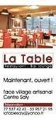 Bar restaurant à Saly - Recto format 7x15cm