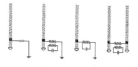 Means for long conductors of electricity forming part of an electric circuit and electrically connecting said ionized beam to an electric circuit. Hettinger 1917 -(U.S. Patent 1,309,031)