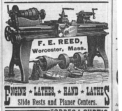 Exemple of 1900 F.E.Reed Prentice lathe.