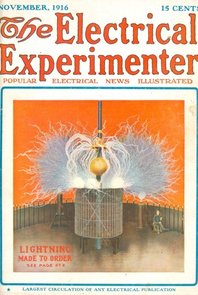 Electrical Experimenter, November 1916 - Lightning Made to Order