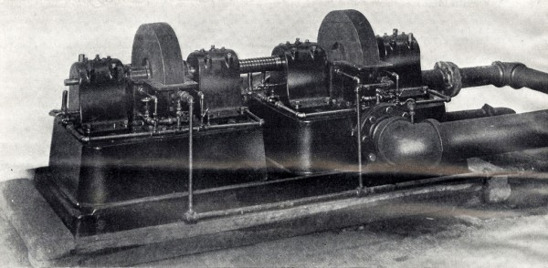The Tesla turbine testing plant at the Edison Waterside Station, New York.