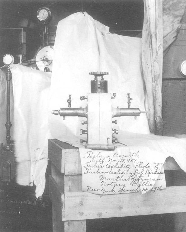 Tesla turbine at Wardenclyffe laboratory.