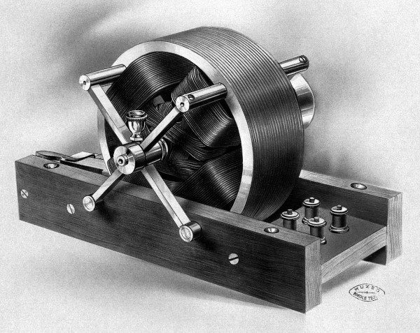 Tesla's First Induction Motor. This Historic Model is One of the Two First Presented Before the American Institute of Electrical Engineers.