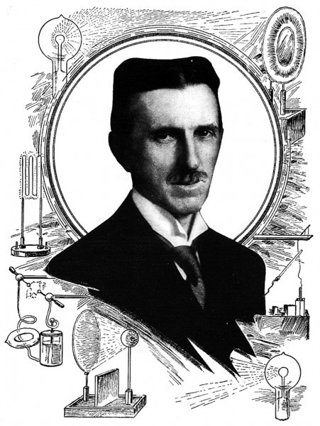 Nikola Tesla at 60. A Very Recent Portrait of the Great Inventor. An Excellent Likeness.