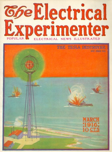 Electrical Experimenter, March 1916 - The Tesla Destroyer