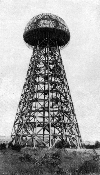 NOT BUILT TO BE BUT A LANDMARK — Like the rest of Tesla's mystery, the purpose of this mushroom tower, with it's 185 feet of structure and its copper-covered dome, is unknown. But Tesla still dreams, and it may yet come to life.