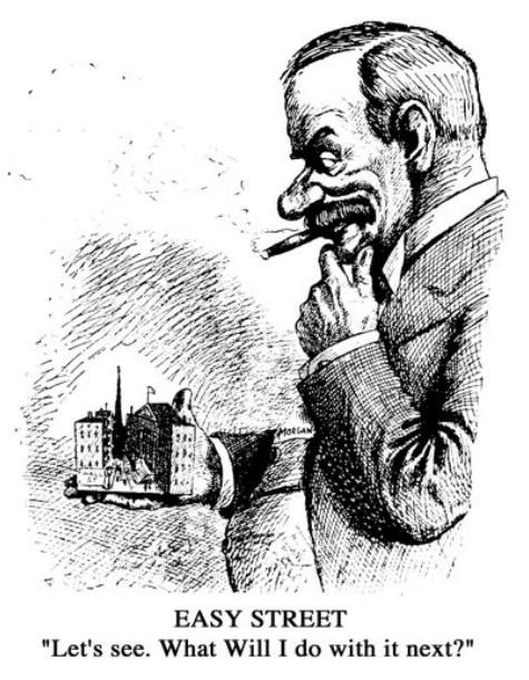Political cartoon of J.Pierpont Morgan.